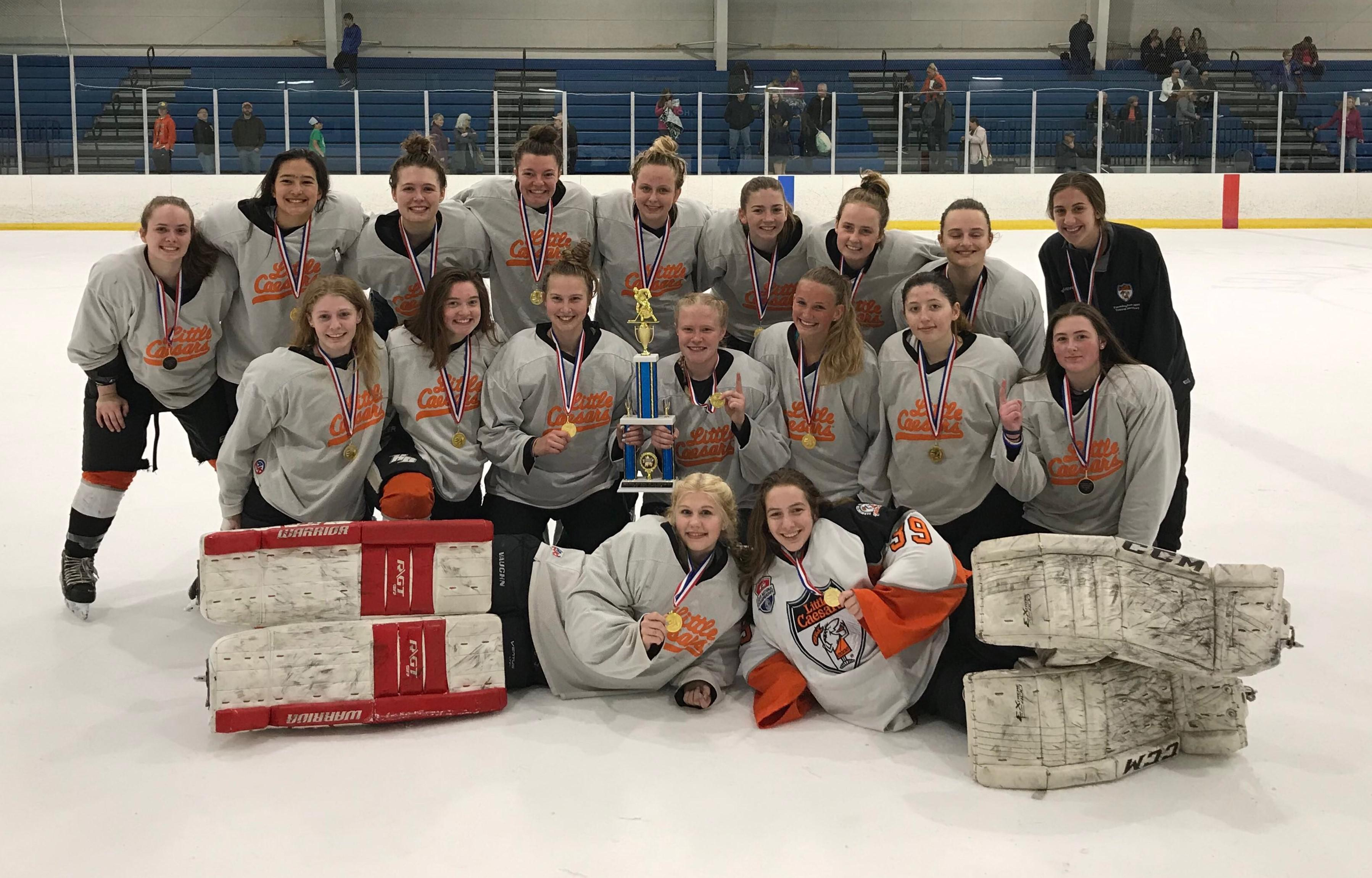 19U LCFH Girls Win the Livonia Year End Tournament