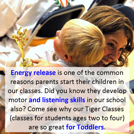 Learn more about toddler martial arts lessons