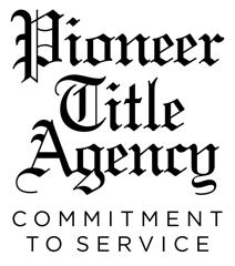 We'd like to thank our Team Partner Pioneer Title Agencyr