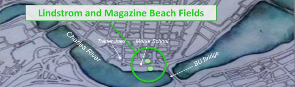 Lindstrom (next to Morse School) and Magazine Beach Fields