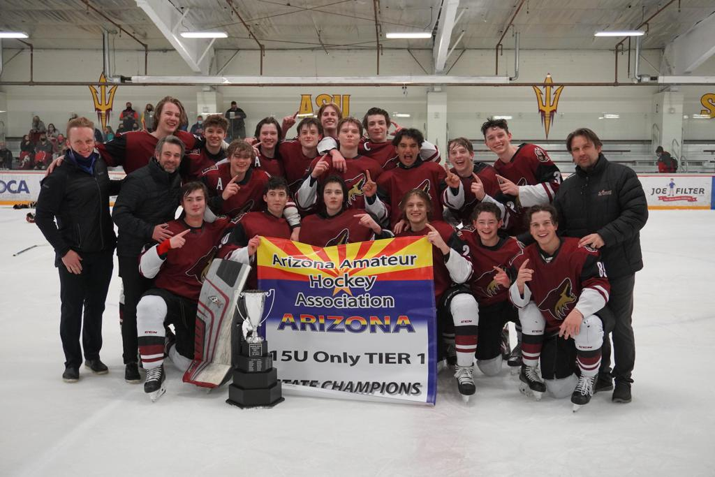 CONGRATULATIONS TO THE Jr COYOTES 15O AAA ARIZONA TIER I STATE CHAMPIONS 2020-21