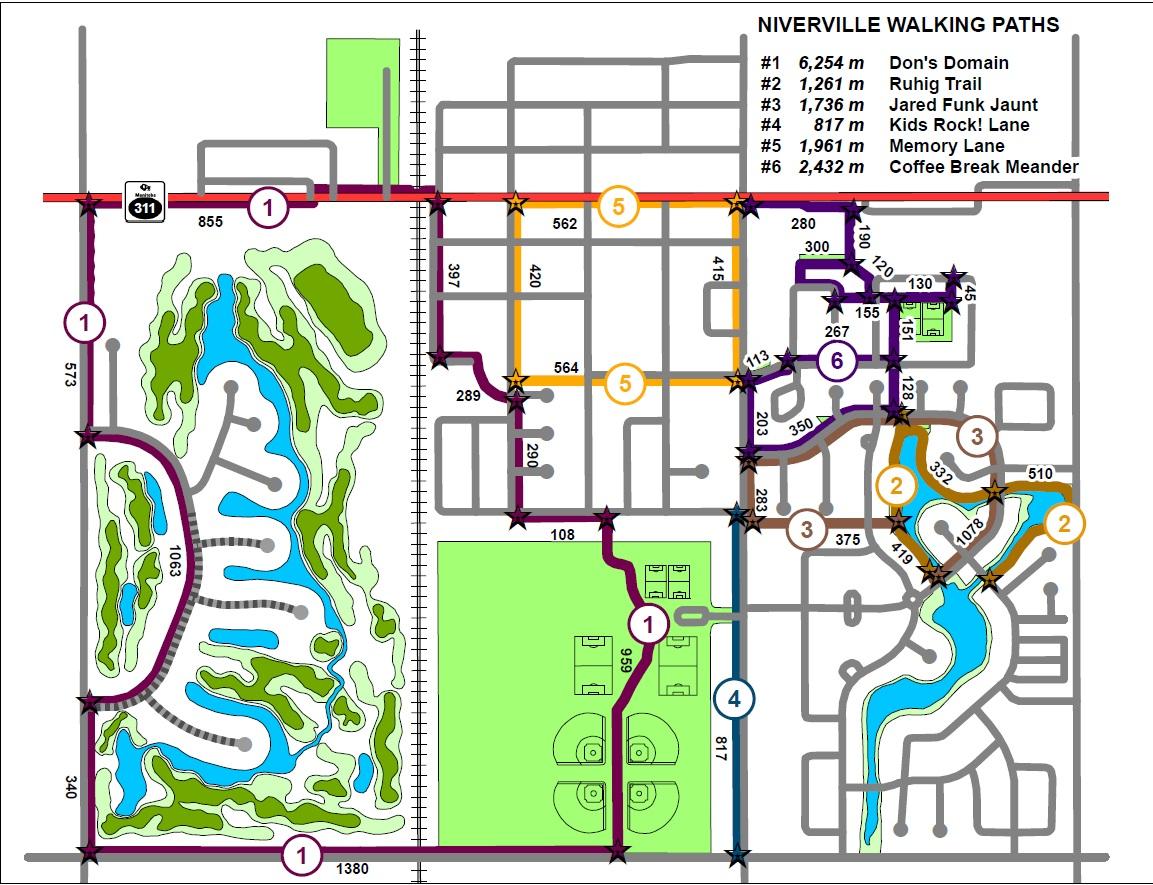 Niverville Trails Map