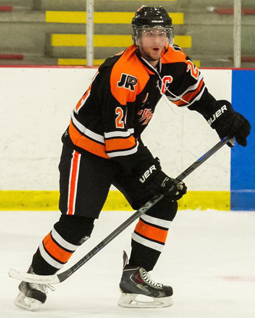 Jr. Flyers EHL Junior alum Jonathan Ruiz signs camp contract with Cincinnati of ECHL