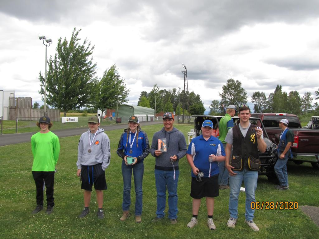 Third Place Lady and Rookie in Trap.