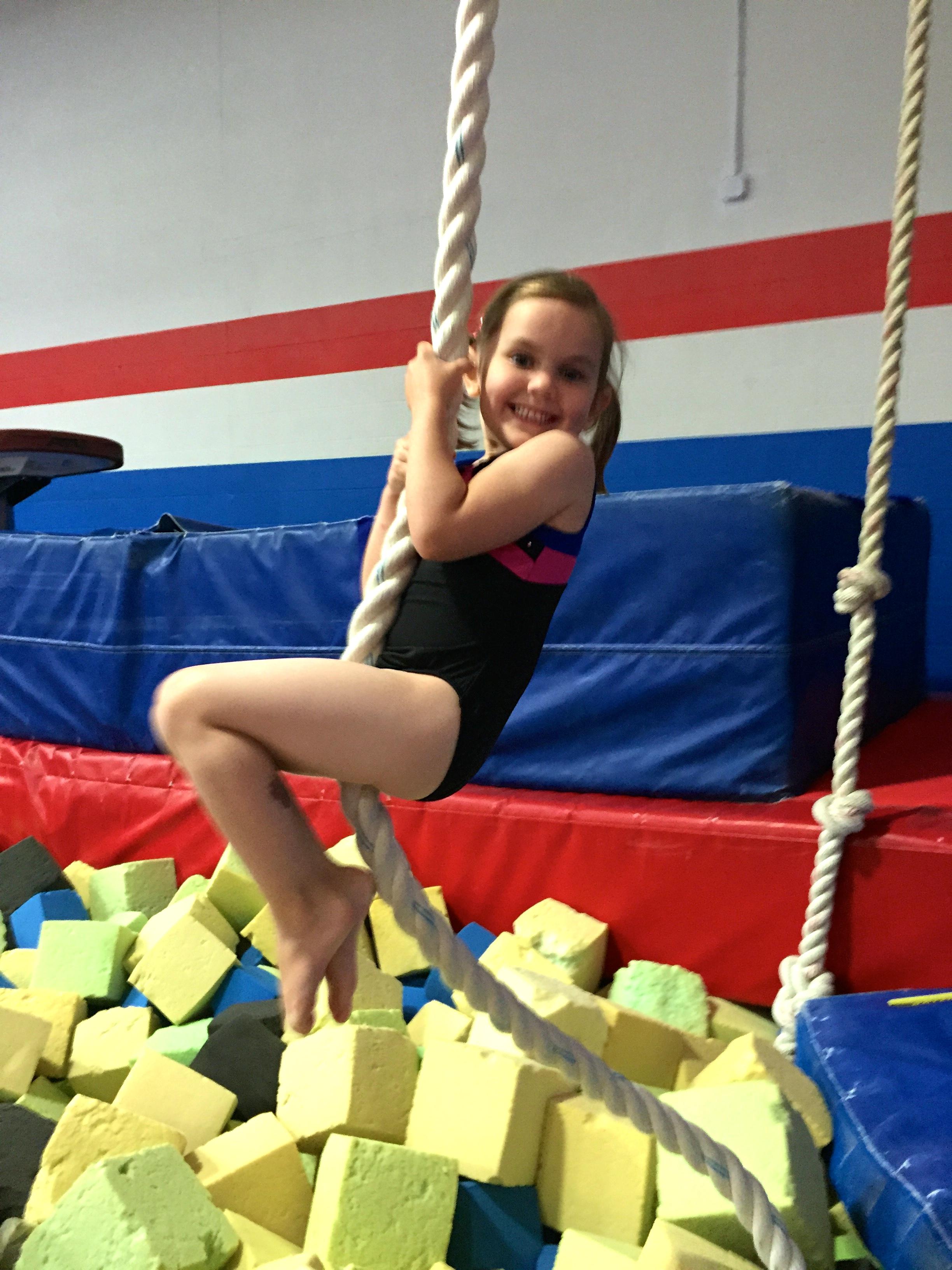 Flips Gymnast Rope Climb