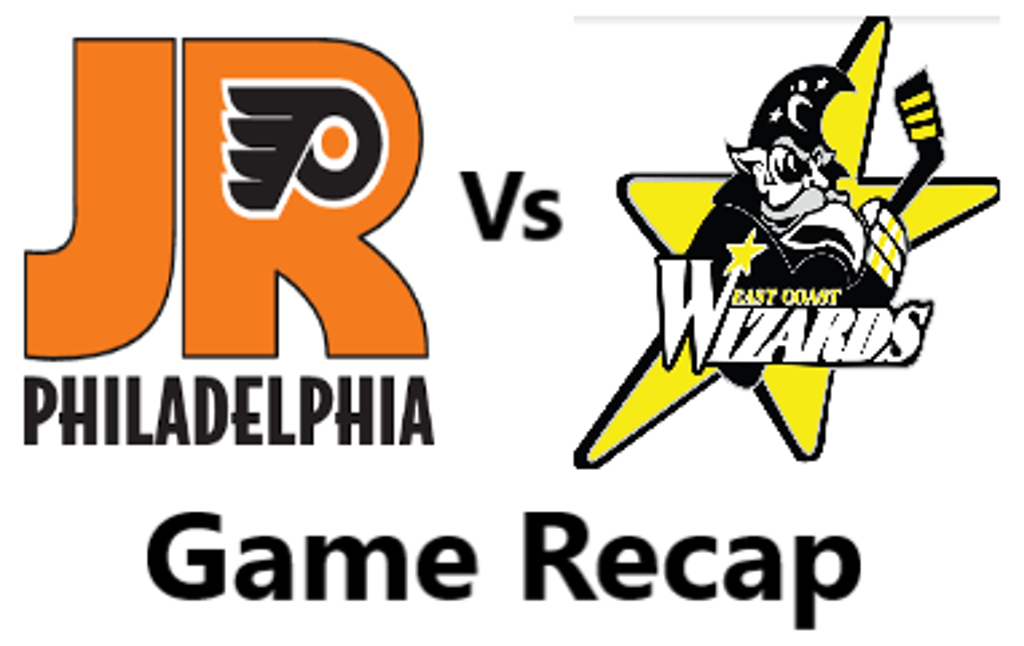 Wizards blank Jr. Flyers 4- 0 in game 1 of EHL Showcase