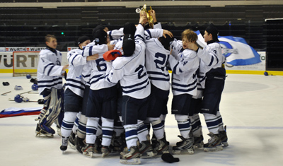 Boys Hockey Team Celebration World Selects Invite