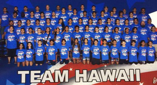 2015 Team Hawaii Western Regional Wrestlers