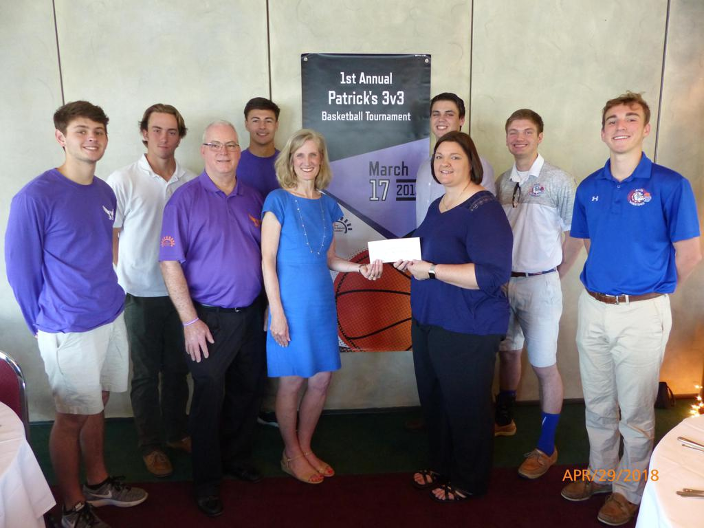 The 1st Annual Patrick's 3v3 Basketball Tournament held on March 17, 2018 at The Bolles School was successful. This event's proceeds funded the local Northeast Florida Chapter of American Foundation for Suicide Prevention (AFSP) with $5,000 for their prog