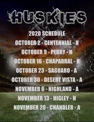 2020 Huskies Game Schedule
