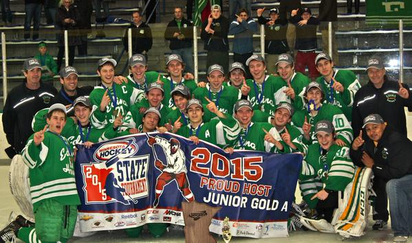 Edina finished the 2014-15 season as Junior Gold state champions. Photo credit: Minnesota Hockey