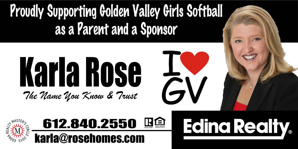 Proudly supporting Golden Valley Girls Softball as a Parent and a Sponsor