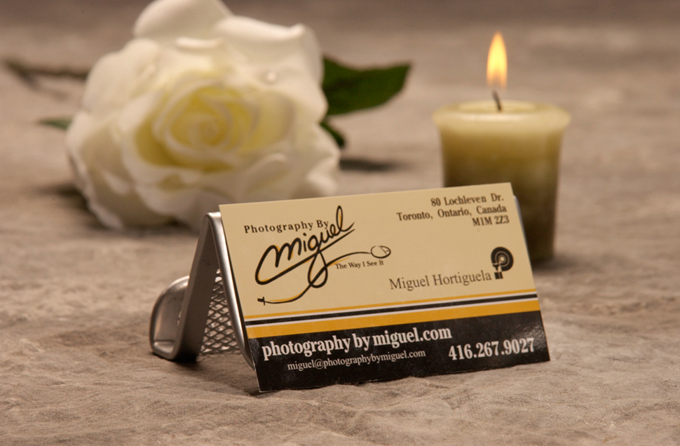 Mississauga Business Card Design by Kevin J. Johnston - Photography By Miguel