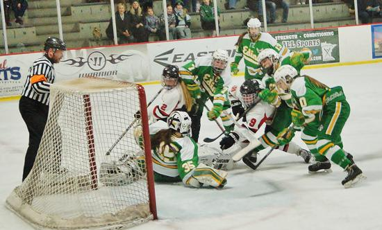 Edina (shown here against Eden Prairie), claimed third place at last year's State Tournament. Photo credit: YHH.