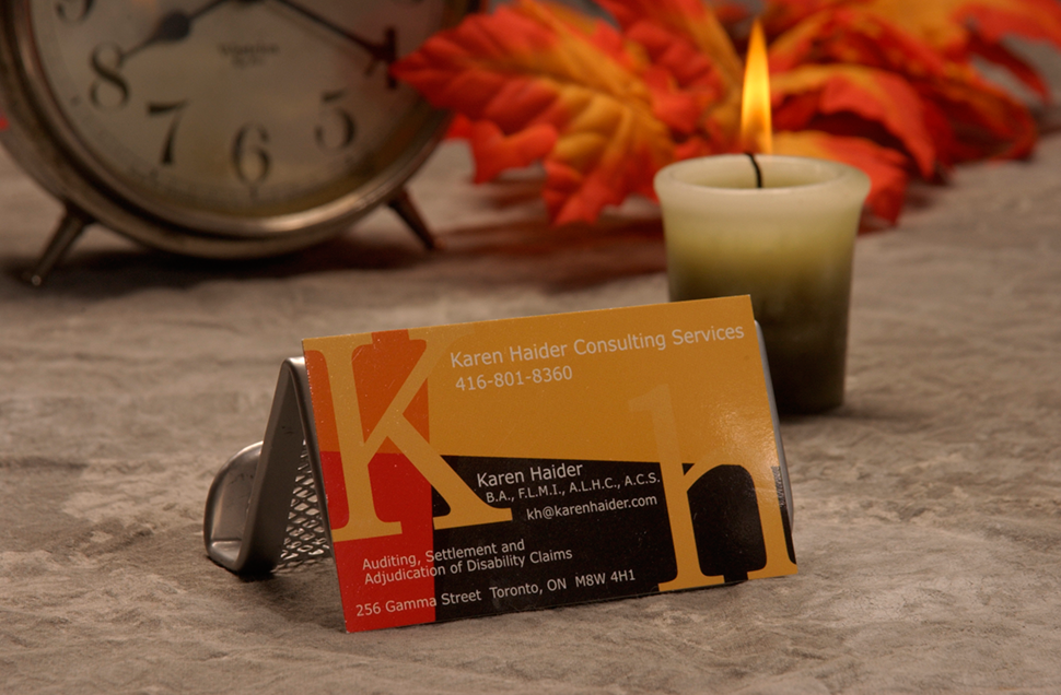 Mississauga Business Card Design by Kevin J. Johnston - Karen Haider Consulting