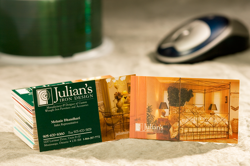 Mississauga Business Card Design by Kevin J. Johnston - Julian's Iron Design