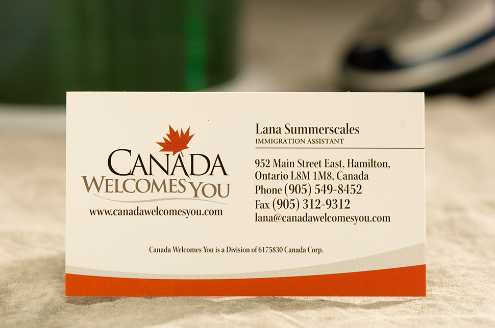Mississauga Business Card Design by Kevin J. Johnston - Canada Welcomes You