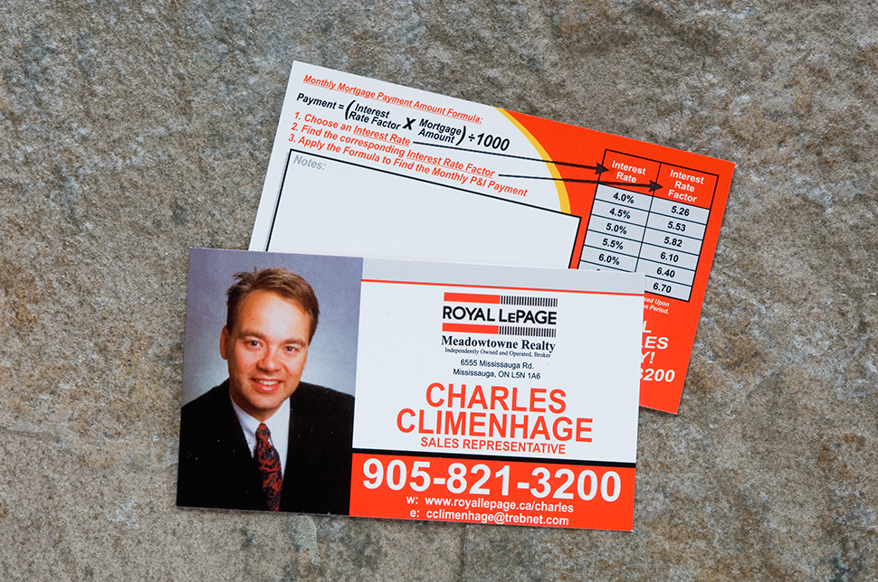 Mississauga Business Card Design by Kevin J. Johnston - Royal LePage