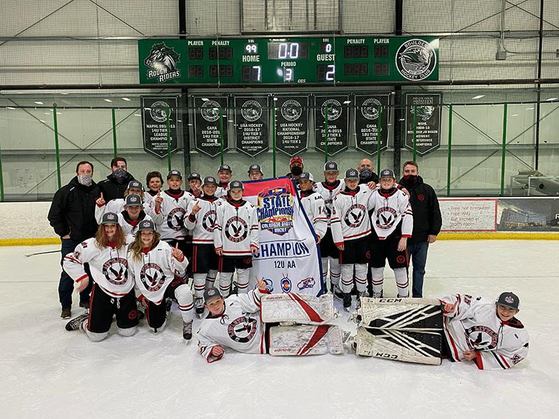 12U AA champion Littleton Youth Hockey Association