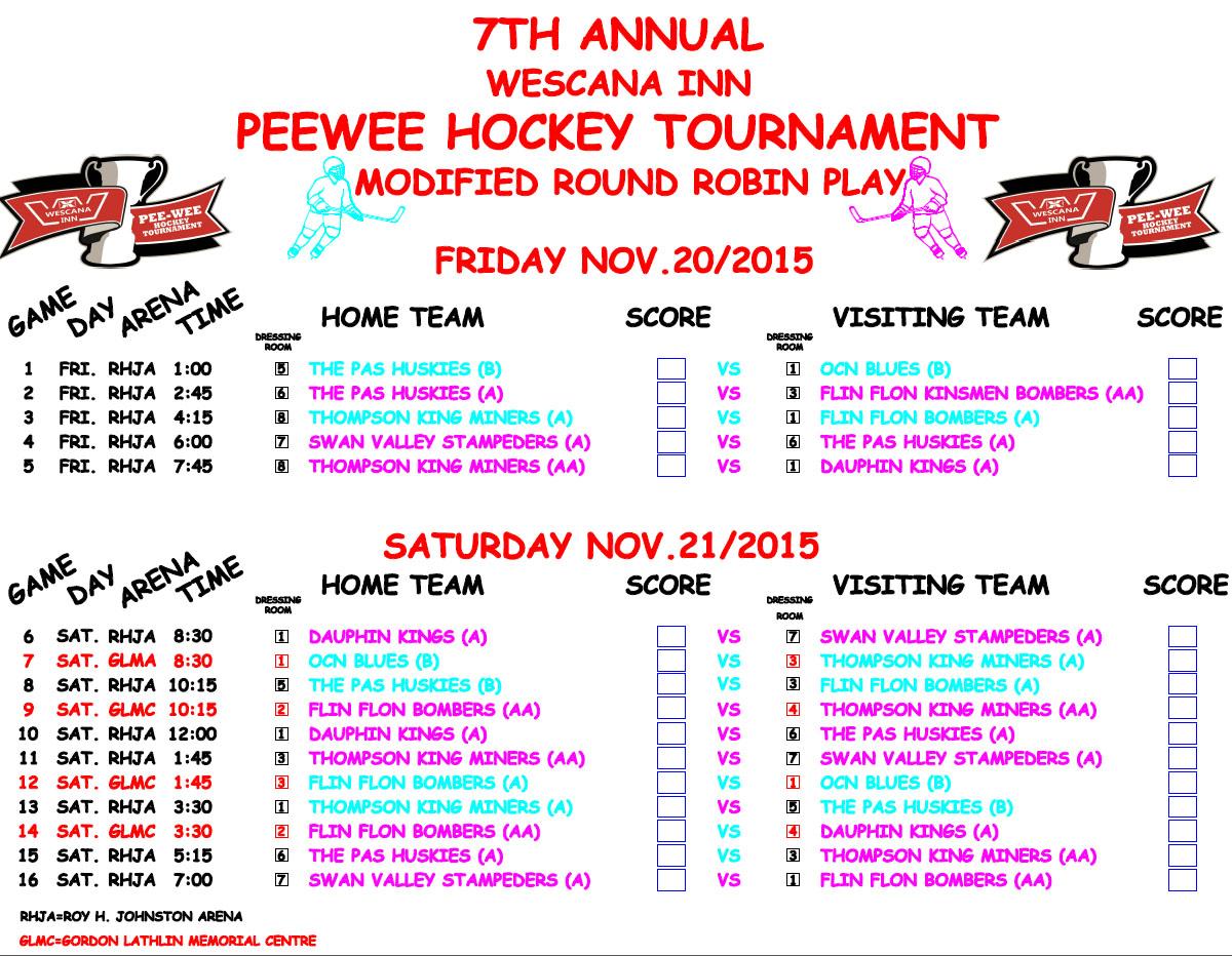 wescana inn peewee tournament