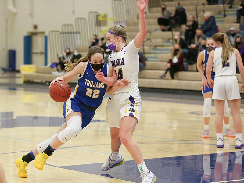 Jenna Johnson (22) is one of two Wayzata players to receive Class 4A all-state honors this year, while Mallory Heyer (right) was Chaska's lone representative. Photo by Jeff Lawler, SportsEngine