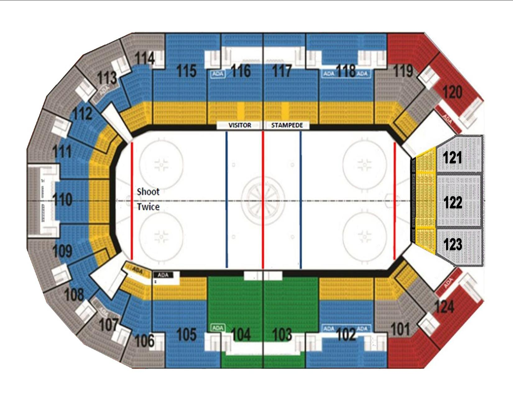 Denny Sanford Premier Center Detailed Seating Chart Brokehome Com