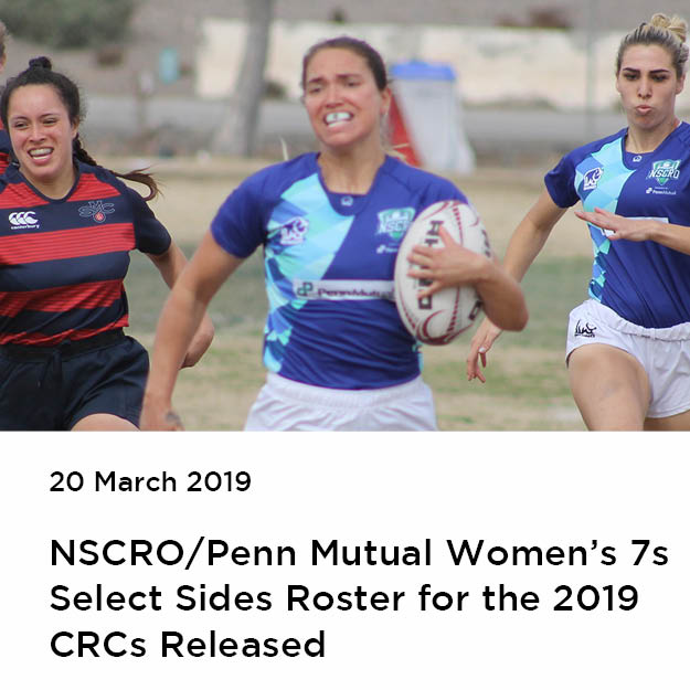 NSCRO/Penn Mutual Women's 7s Select Sides Roster for 2019 CRC released