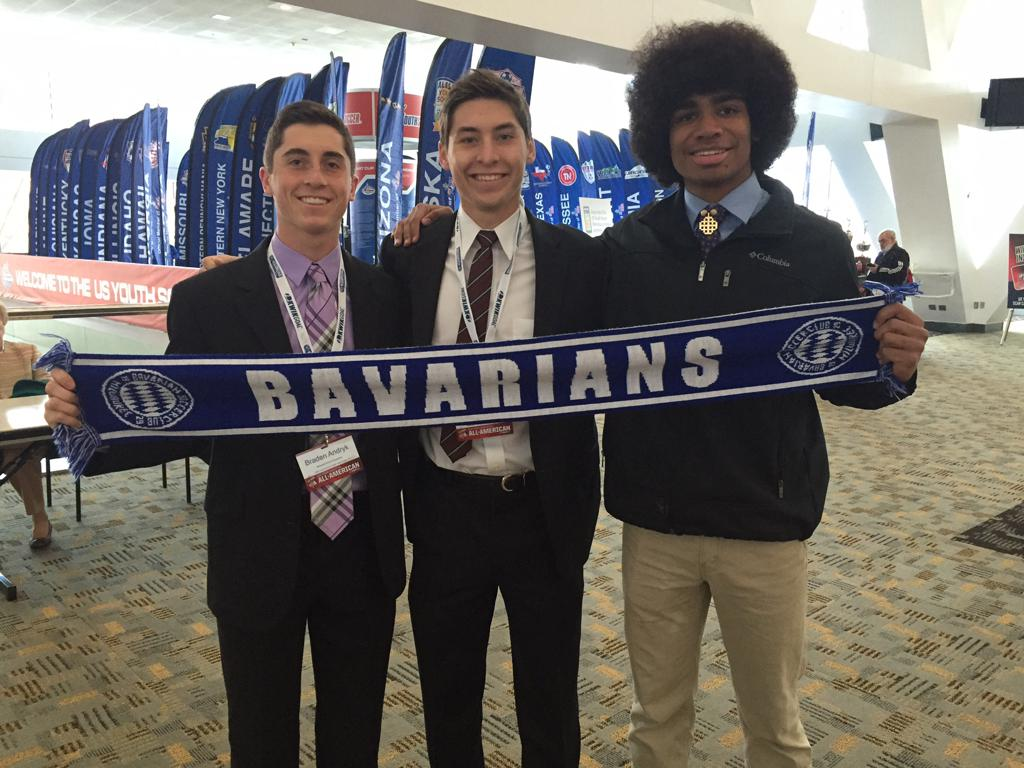 Braden and Logan Andryk along with Alec Phillipe at the NSCAA Gala Dinnner in Baltimore receiving their All-American Awards