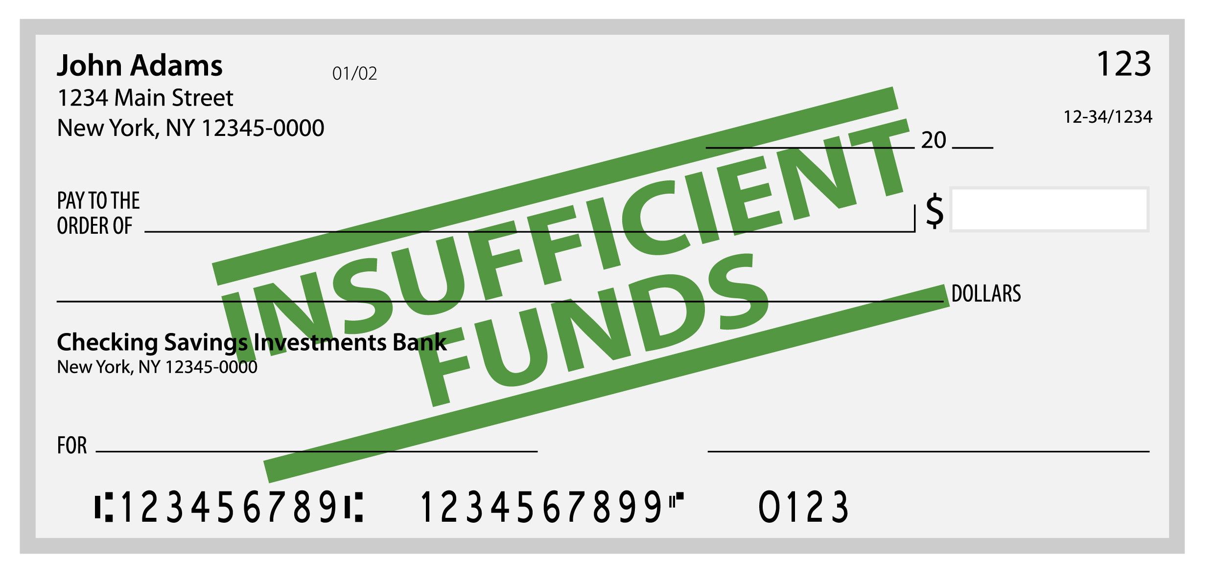 insufficient funds letter