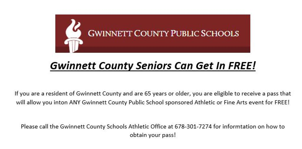 Free Admission for Gwinnett County Seniors