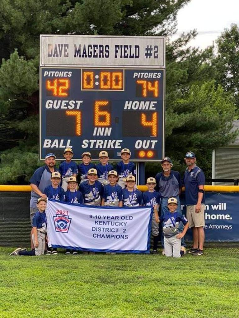 9-10 Year Old District Champions 7-4