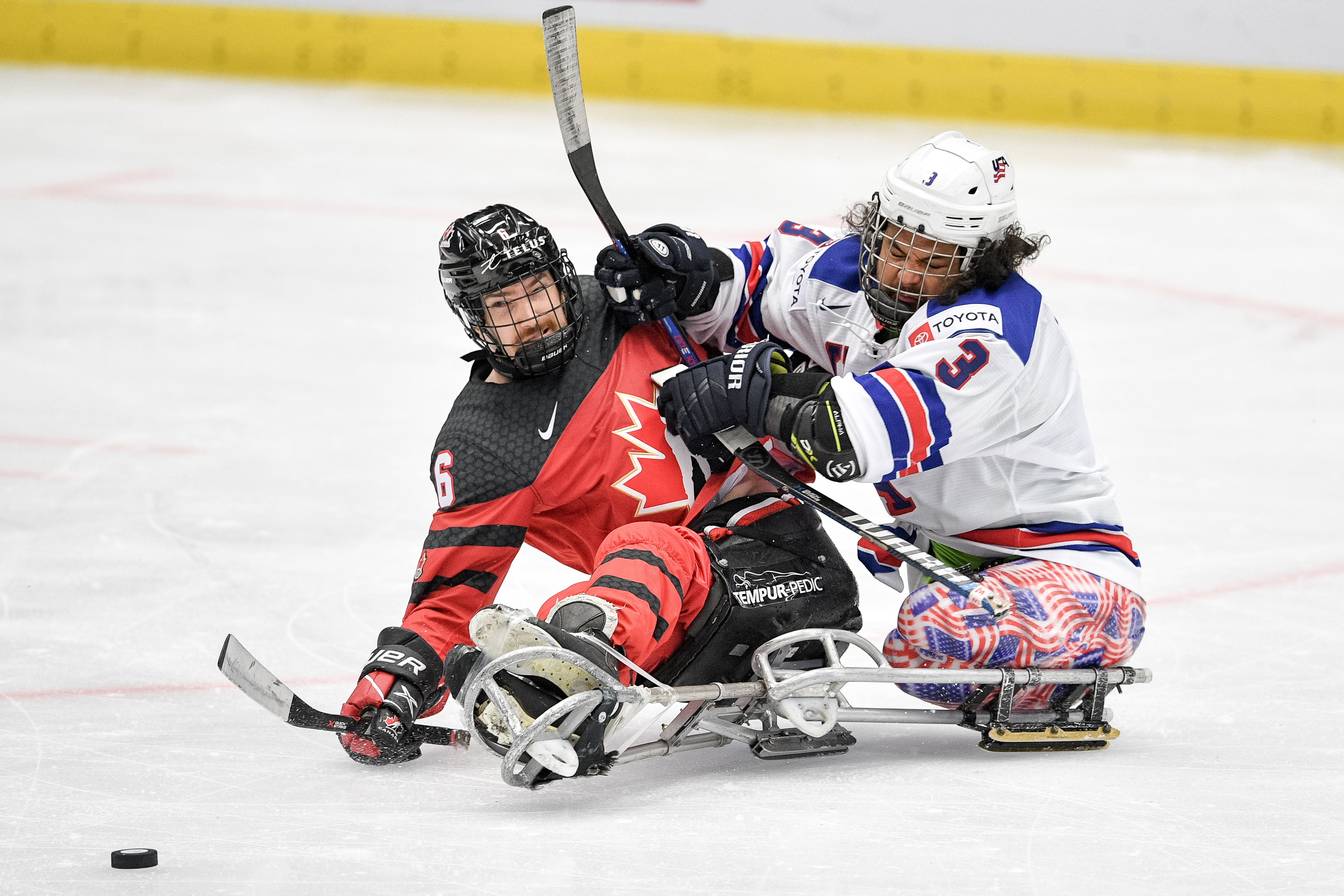 Colorado Avalanche Sled Hockey alum Ralph DeQuebec delivered hits for Team USA during the 2021 Para Ice Hockey World Championships in Ostrava, Czech Republic, June19-26. There, he captured his second world championship gold. Photo submitted by USA Hockey