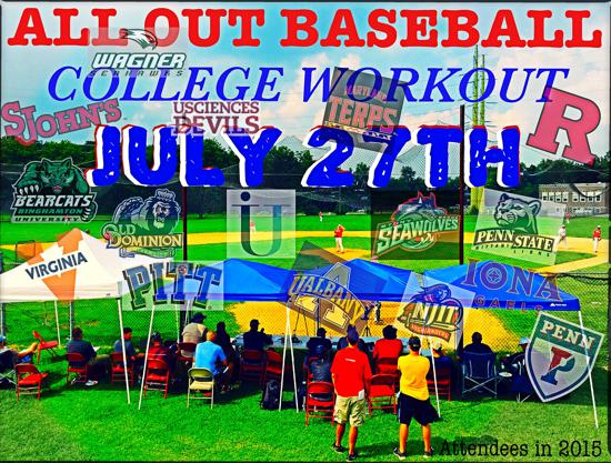 All Out Baseball had a very successful College Coaches camp in 2016 and looking to have an even better one in 2017! For early registration email alloutbaseball@gmail.com