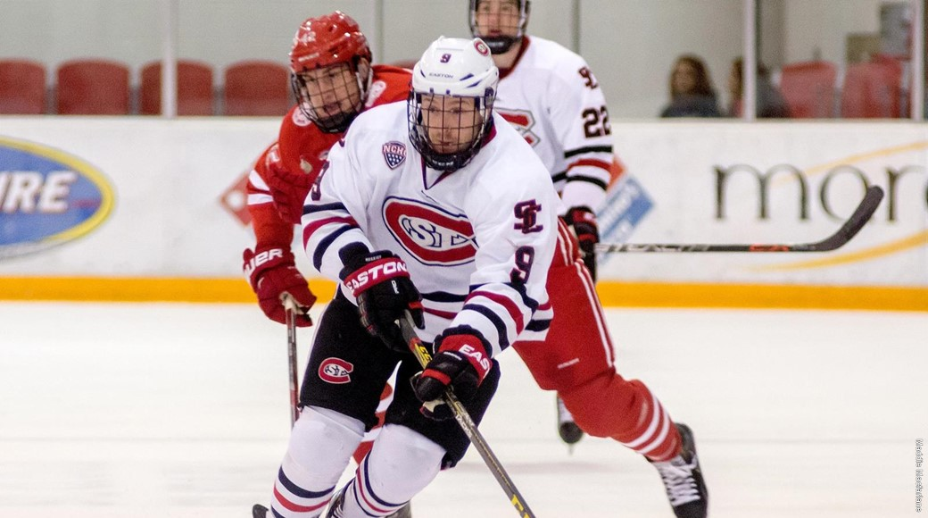 St. Cloud State has nine native Minnesotans on its roster, including Joey Benik from Andover. Credit: SCSU Athletic Media Relations.