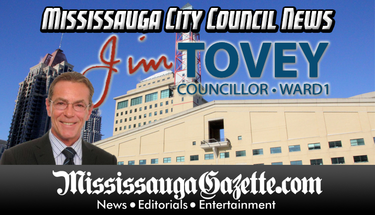Jim Tovey - Mississauga City Council - Ward 1 - Mississauga News and Mississauga Gazette - Mayor Bonnie Crombie