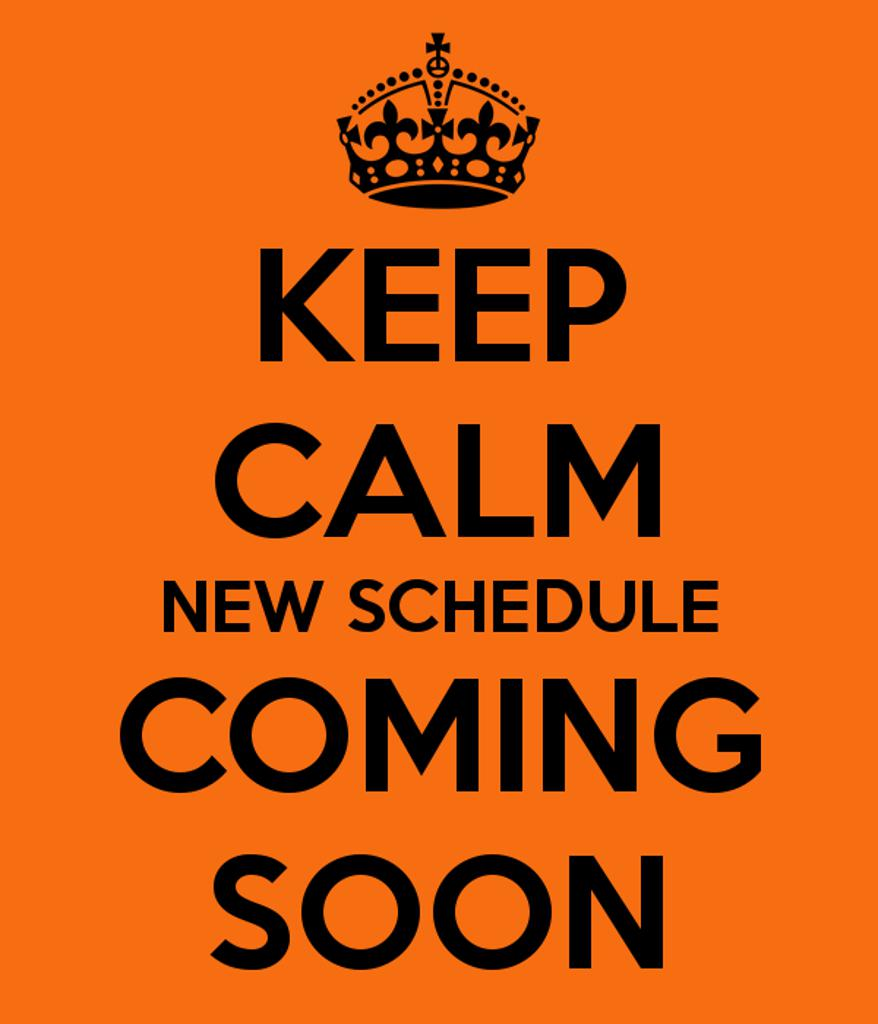 schedule coming soon
