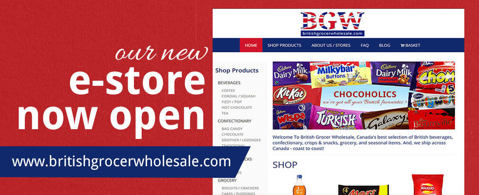 British Grocer Wholesale - British Groceries in Mississauga - A Little Bit of Britain - British Foods and British Chocolates in Mississauga News