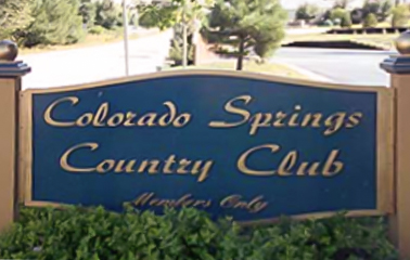 colorado springs country club sign
