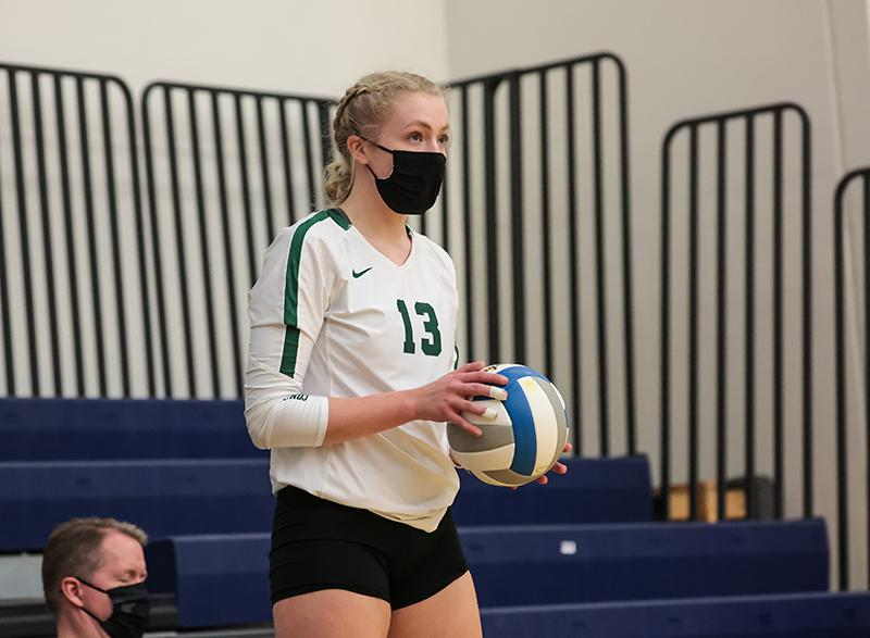 Kira Fallert (seen above) of Concordia Academy was one of five finalists announced for the 2020 Ms. Baden Volleyball award on Wednesday. The winner will be unveiled Friday. Photo by Cheryl A. Myers, SportsEngine