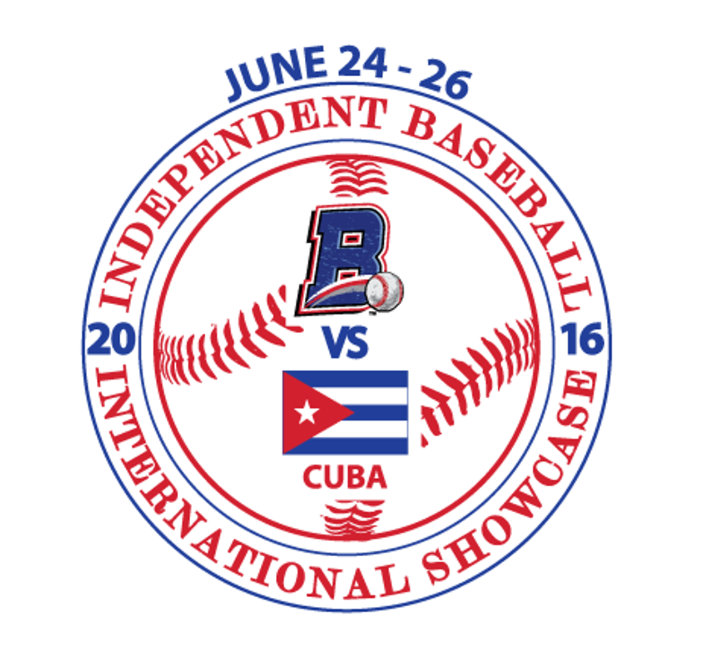 Logo for the Cuban National Baseball Team vs Rockland Boulders three-game series in June 2016.