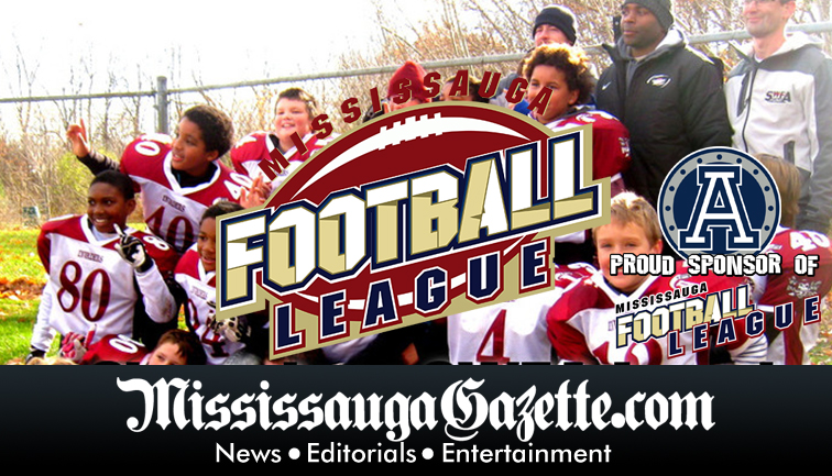 football league in mississauga and flag football league in mississauga in the mississauga gazette newspaper and mayor bonnie crombie and kevin j johnston