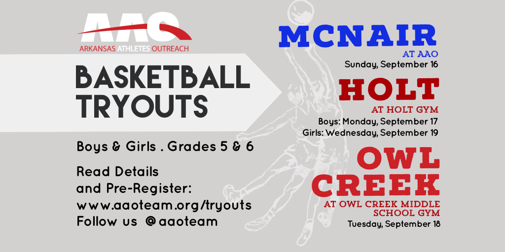 Tryouts for Owl Creek, Holt and McNair