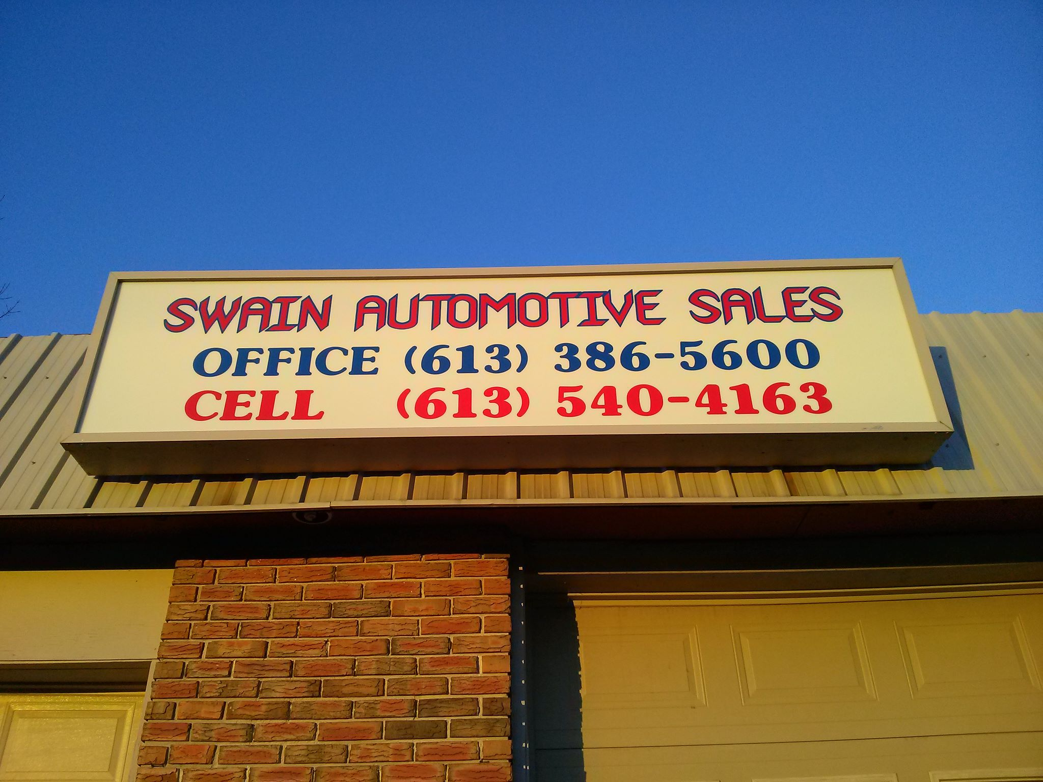 Swain Auto Sales in Odessa Ontario and Used Car Sales and quality auto sales - Buy used cars from a quality company. 1593 County Rd 4 Kingston, ON (613) 386-5600