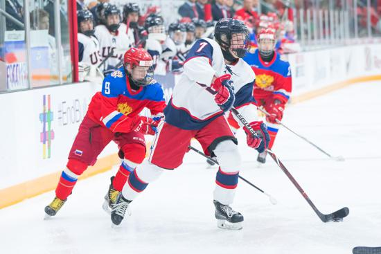 U S Falls To Russia In Hlinka Gretzky Cup Pool Play Finale