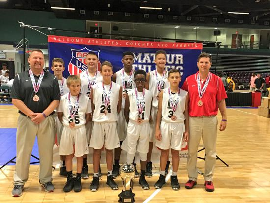 13U RESCH TAKES 7TH PLACE AT AAU NATIONALS IN NORTH CAROLINA. THE BOYS MADE A DEEP RUN INTO THE ELITE 8.