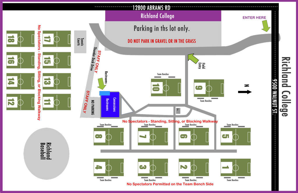 Richland College Field Map