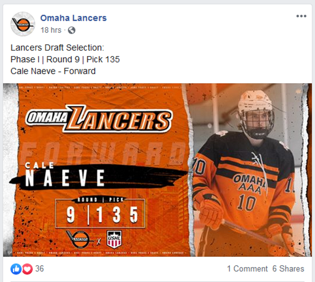 Cale Naeve Drafted!