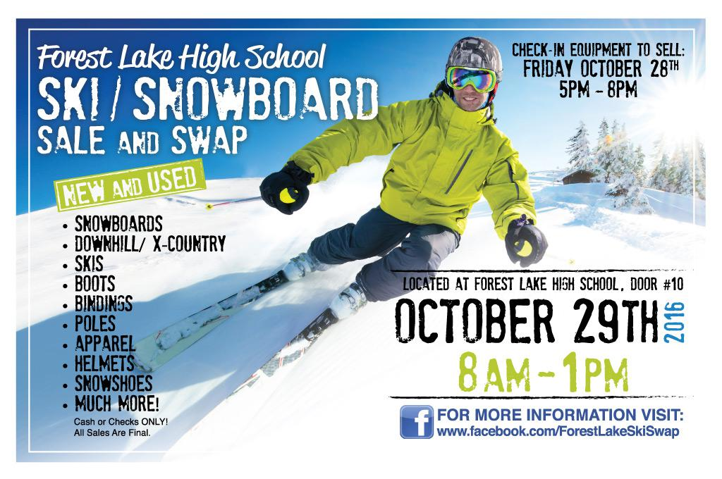 Ski Swap Oct 29 Forest Lake Senior High  sc 1 st  Forest Lake Area High School Athletics and Activities & FLAST\