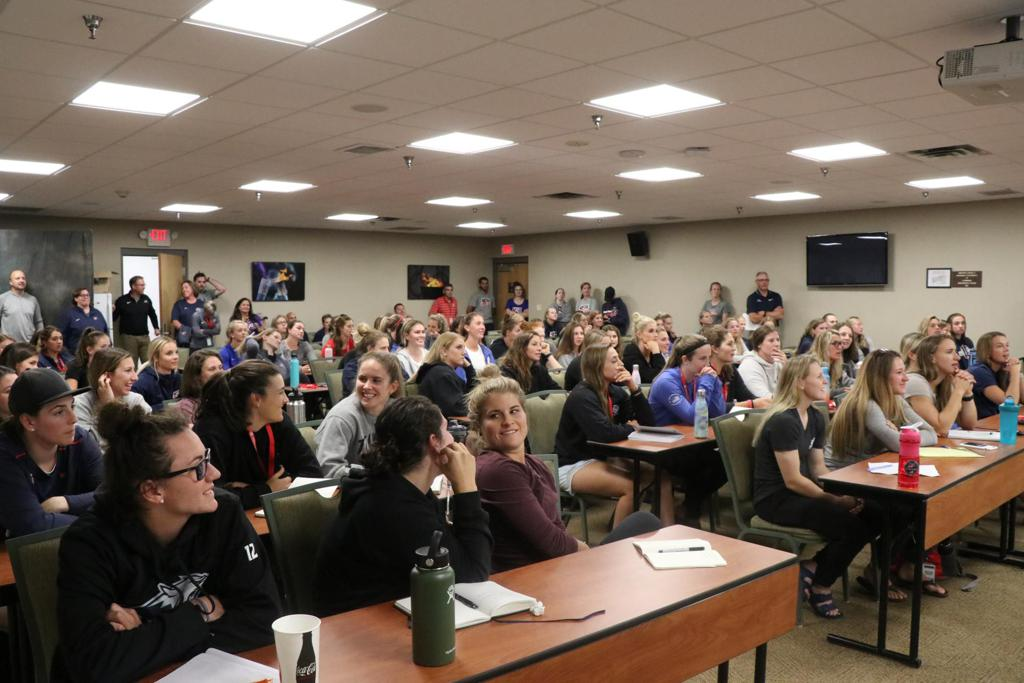 Over 100 athletes gathered at the Olympic Training Center in Lake Placid, New York on Monday evening for the 2019 Women's National Festival