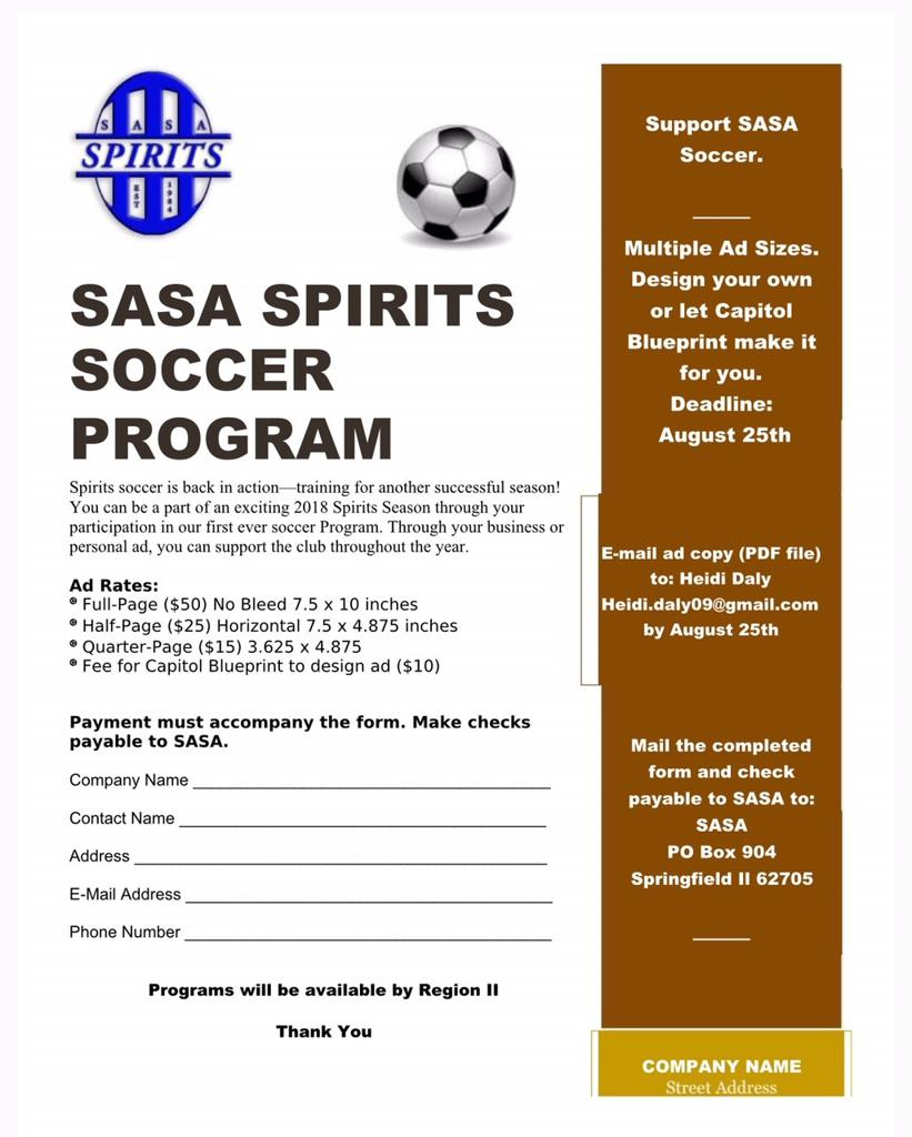 Sasa soccer programad book sasa programad book flyer form malvernweather Image collections